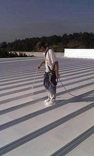 Tinta térmica para telhado de amianto