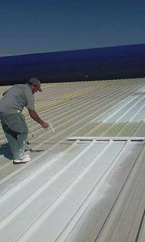 Tinta térmica para telhado de zinco