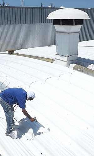 Tinta térmica para telhado fibrocimento